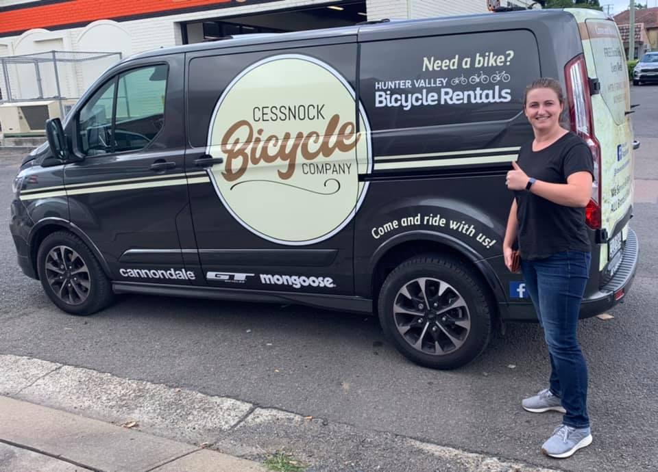cessnock bicycle company van